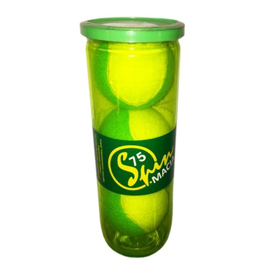 Bola de Tênis Spin Soft 75 Verde Tubo com 3 Bolas SPIN - Amarelo+Verde