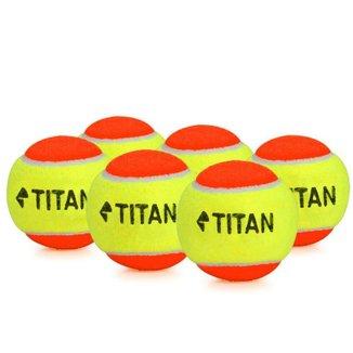 Bola de Tênis Titan Laranja Kids Stagy 2 e Beach 06 Bolas