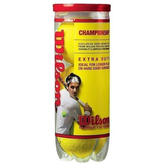 Bola De Tenis Wilson Championship - Pack 03 Bolas - 01 Tubo