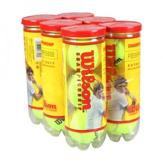 Bola De Tenis Wilson Championship - Pack 18 Bolas - 06 Tubos