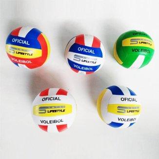 Bola de Vôlei 33cm em Couro Sintético Praia Voleibol
