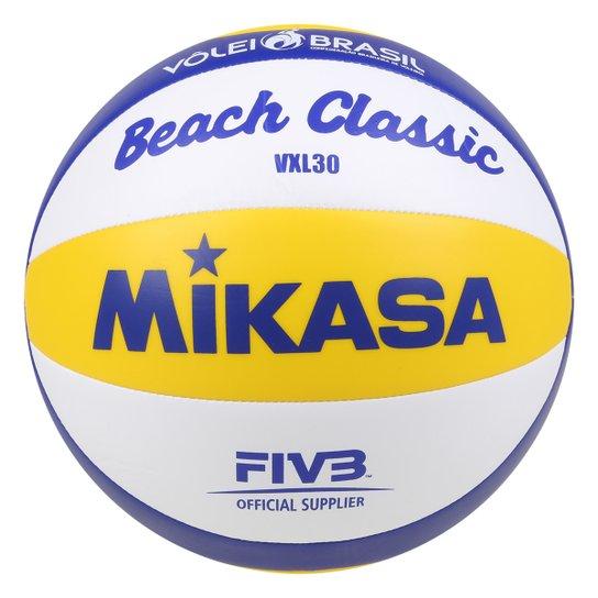Bola de Volêi de Praia Mikasa Vxl30 Treino - Branco+Azul