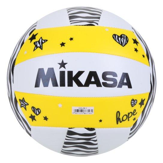 Bola de Vôlei de Praia Mikasa - Amarelo+Branco