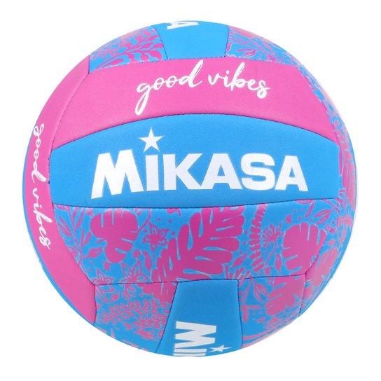 Bola de Vôlei Mikasa Quadra Good Vibes Lazer - Roxo+Azul