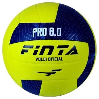 Bola de Vôlei Oficial PRO 8.0 Finta Amarelo/Azul