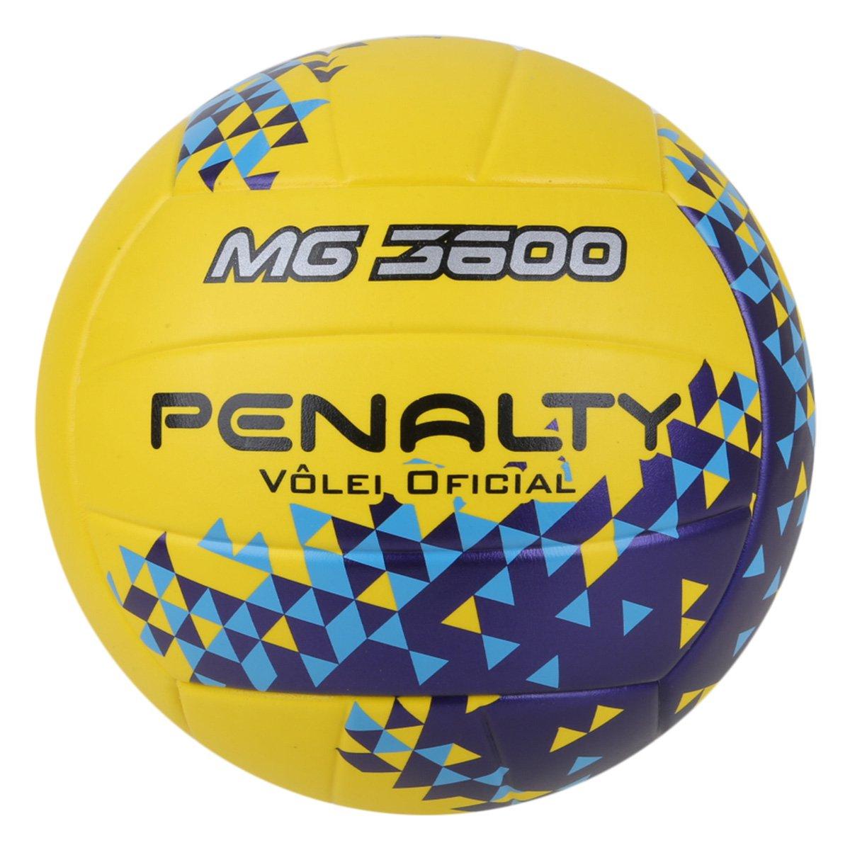 Bola de Vôlei Penalty MG 3600 Fusion VIII - Amarelo e Azul