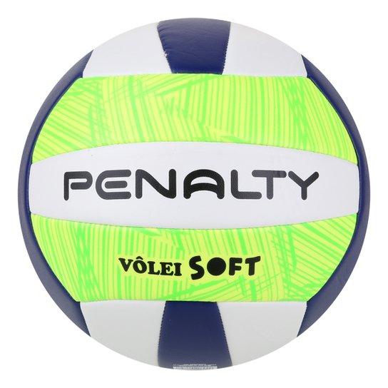 Bola de Vôlei Penalty Soft X - Branco+Azul