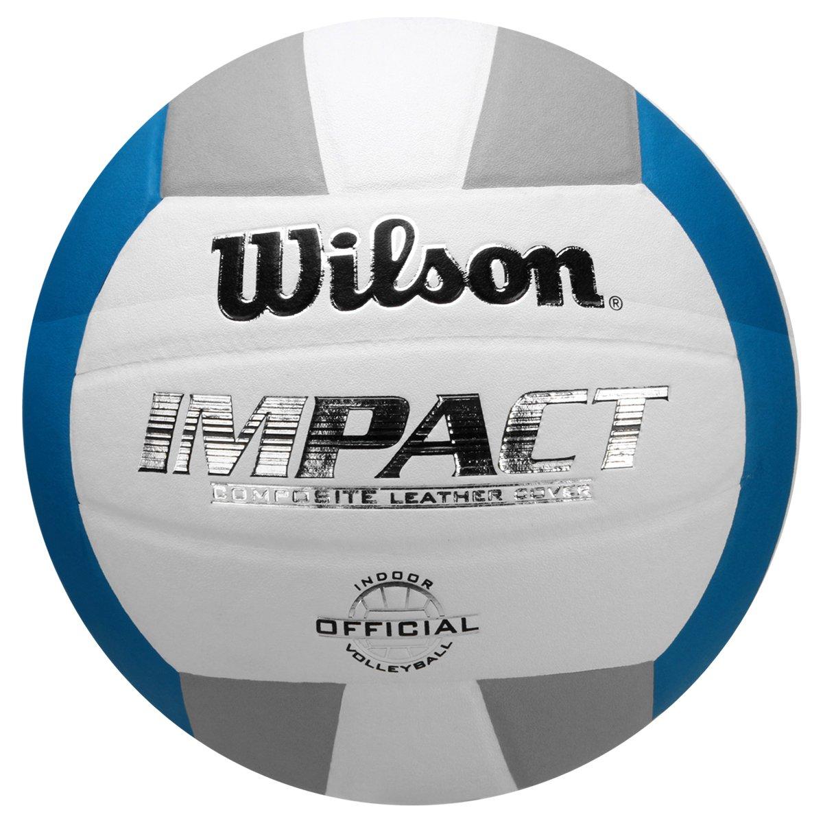 bf93794f3 Bola de vôlei wilson impact branco e azul compre agora netshoes jpg 544x544  Bola de volei