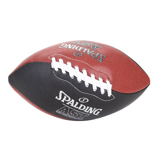 Bola Futebol Americano Spalding Spiral Oficial - Vermelho+Preto