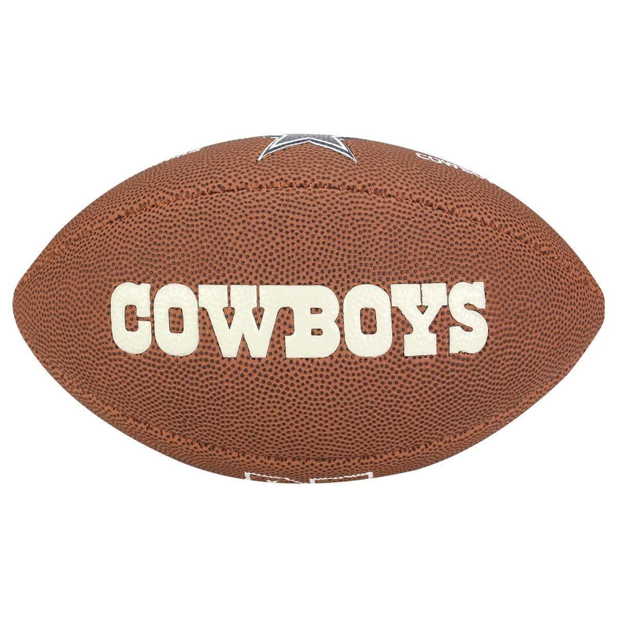 dd120bf928 Bola Futebol Americano Wilson NFL Dallas Cowboys - Marrom - Compre ...
