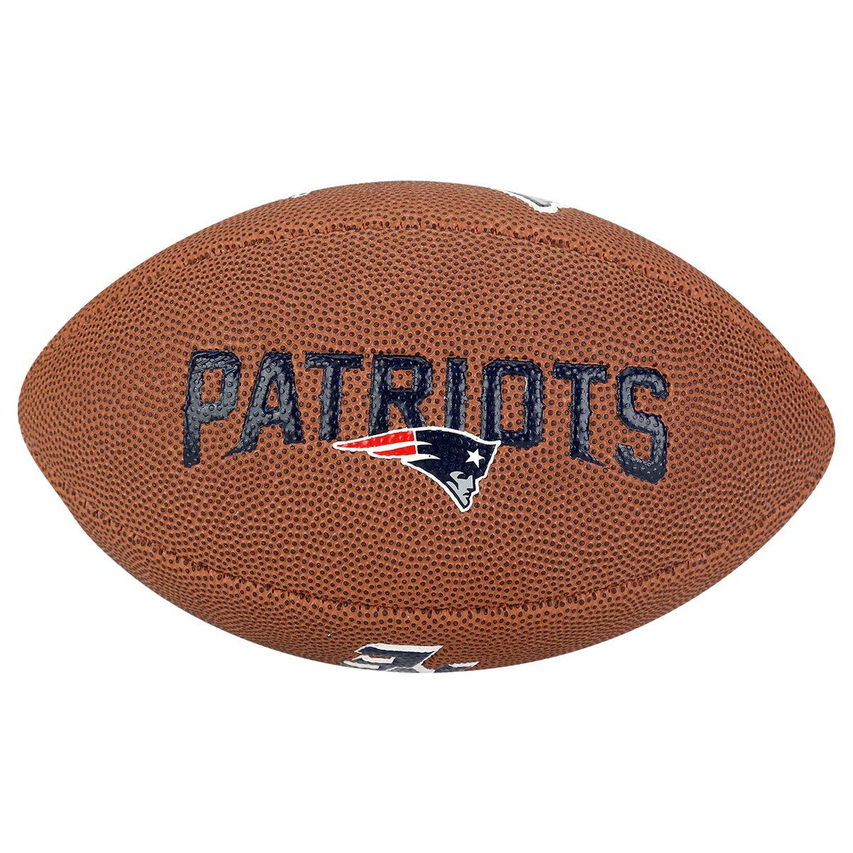 Bola Futebol Americano Wilson NFL New England Patriots - Marrom ... 5f062218a1273