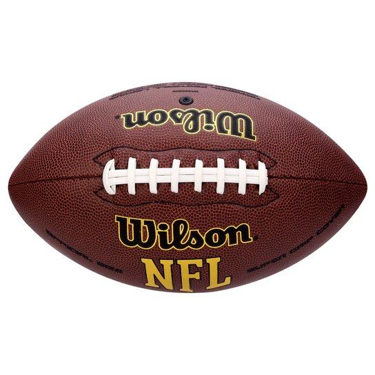 Bola Futebol Americano Wilson NFL Super Grip - Marrom