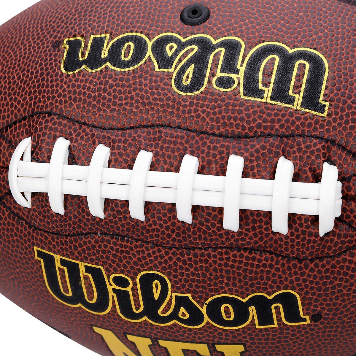 Bola Futebol Americano Wilson NFL Super Grip - Marrom - Compre Agora ... 9fcf555f66bab