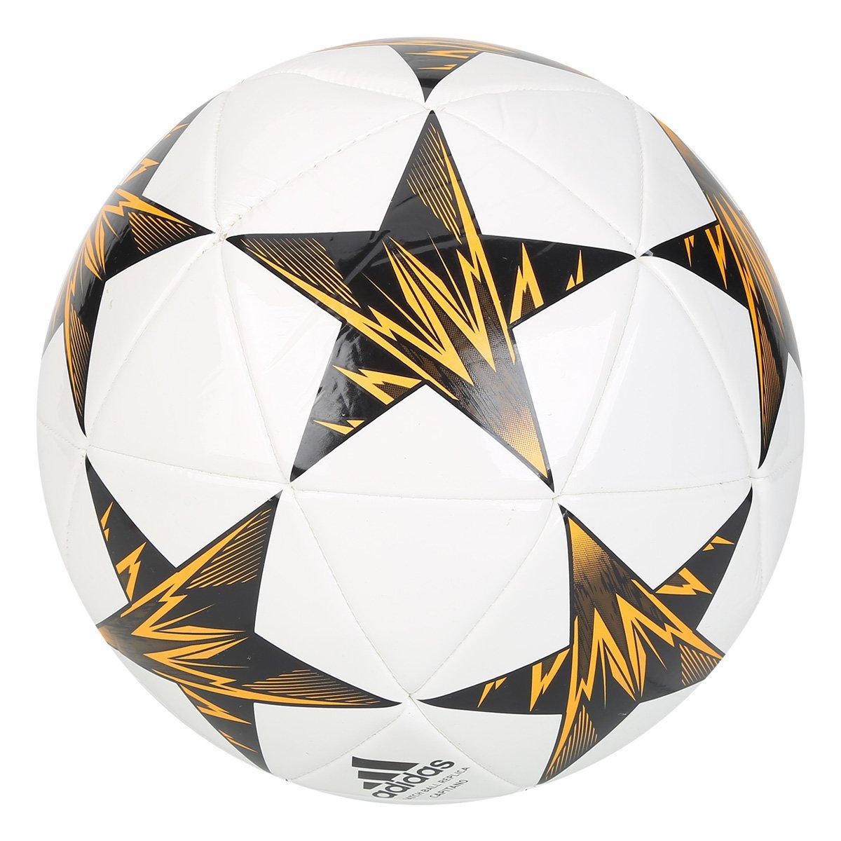 Bola Futebol Campo Adidas Finale Kiev Capitano - Branco e Preto ... d0c2bd2228ed7