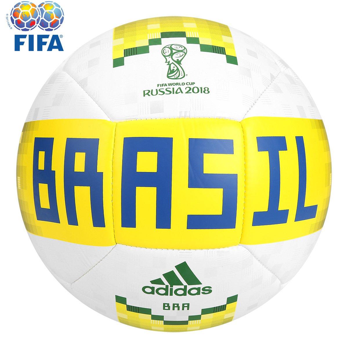 Bola Futebol Campo Adidas Telstar 18 Brasil FIFA - Compre Agora ... dfa06c8d720cd