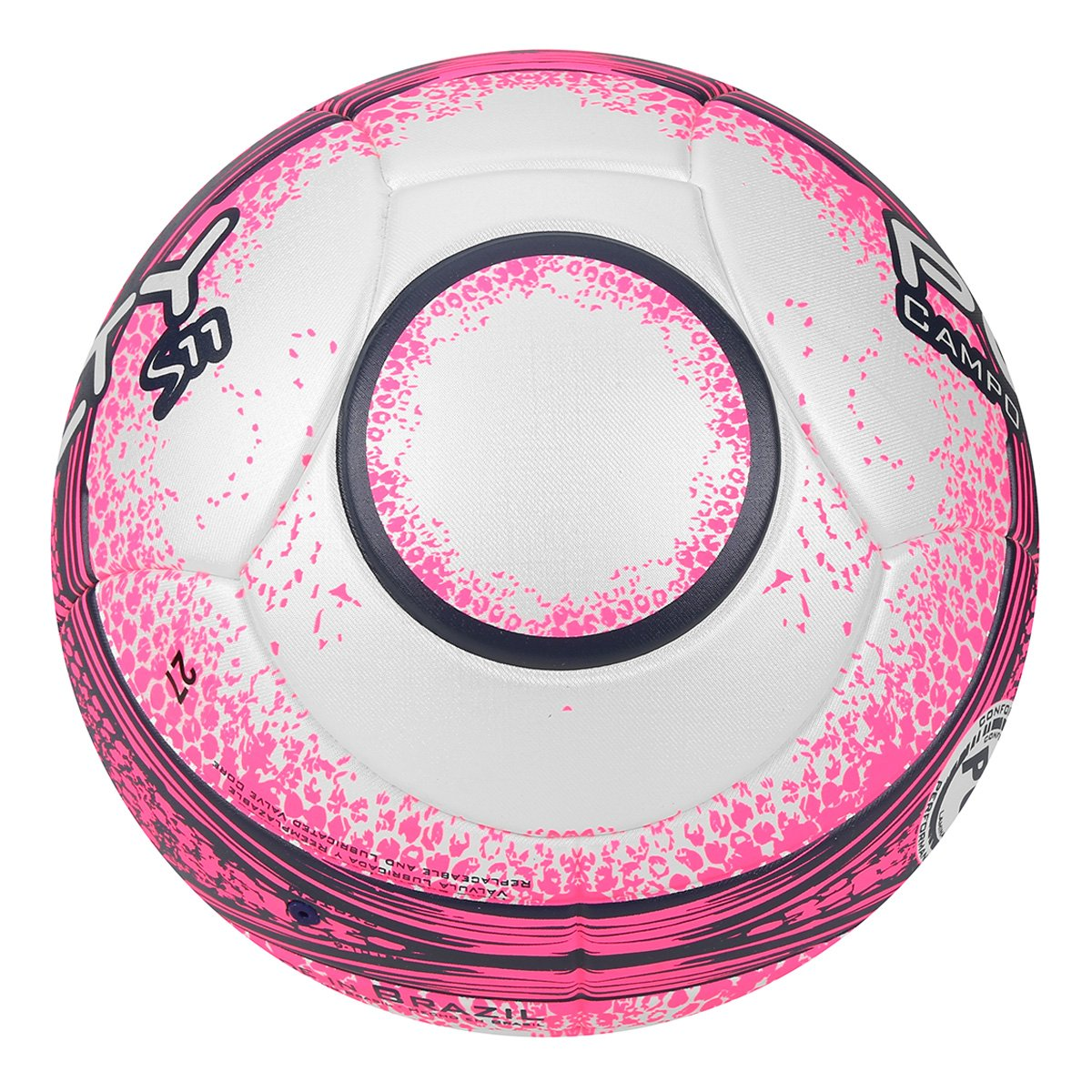 Bola Futebol Campo Penalty S11 R3 Fusion VIII - Branco e Rosa ... eb53bbb21df2a