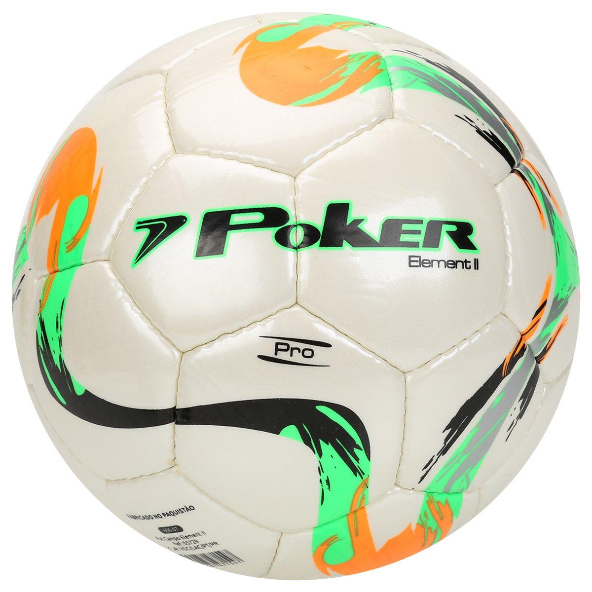 57c770ccb48e1 Bola Futebol Campo Poker Cristal Element 2 Pro Com Costura - Compre Agora