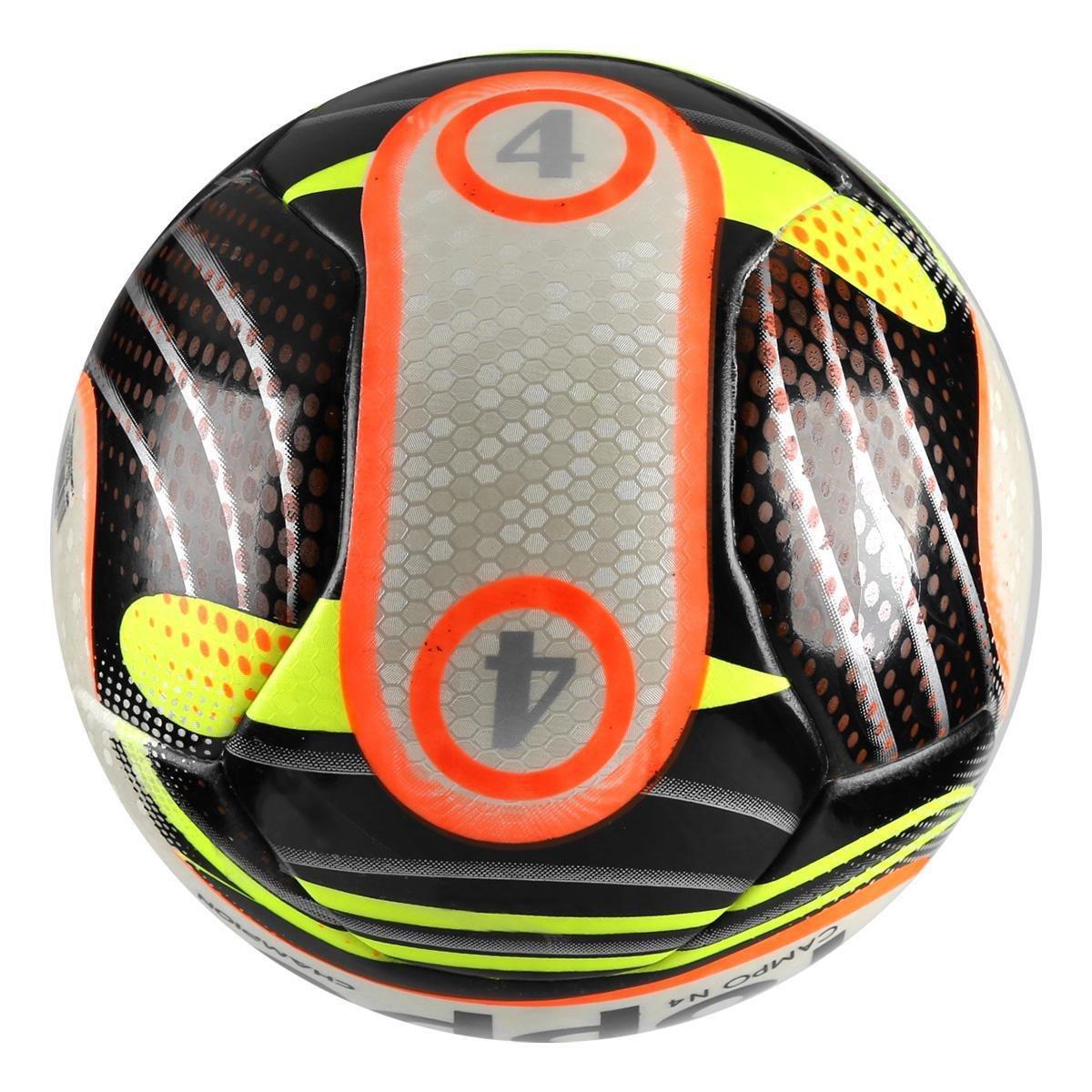 Bola Futebol Campo Topper Champion N4 - Preto e Branco - Compre ... e9e24f617bfce