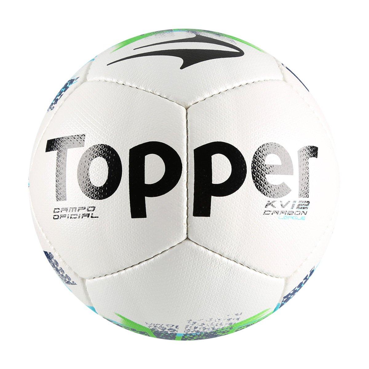 911b80cbc020f Bola Futebol Campo Topper KV Carbon League - Branco e Marinho - Compre  Agora