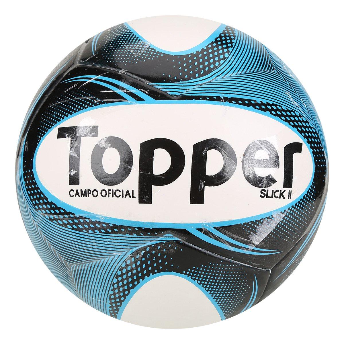 Bola Futebol Campo Topper Slick II - Branco e Preto