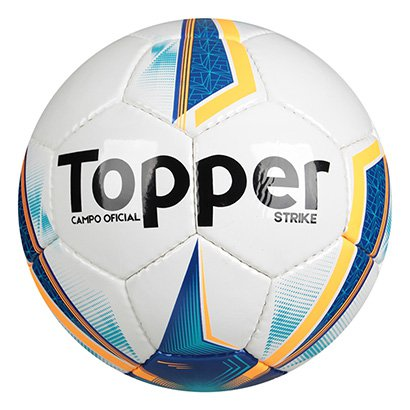 7b26d1c5562dc Bola Futebol Campo Topper Strike IX - Branco e Azul - Compre Agora ...