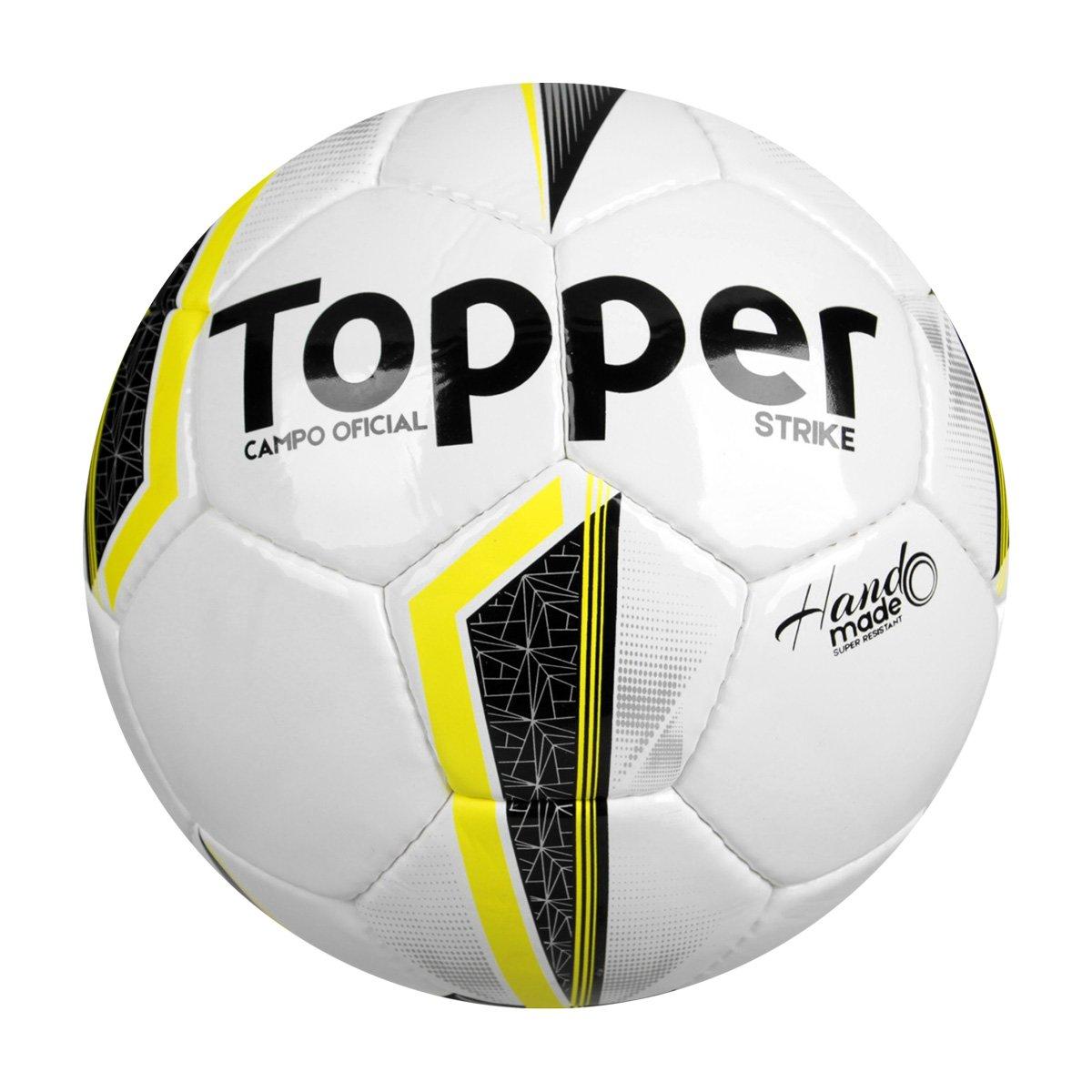 fc4f85cc19a19 Bola Futebol Campo Topper Strike IX - Branco e Amarelo - Compre Agora