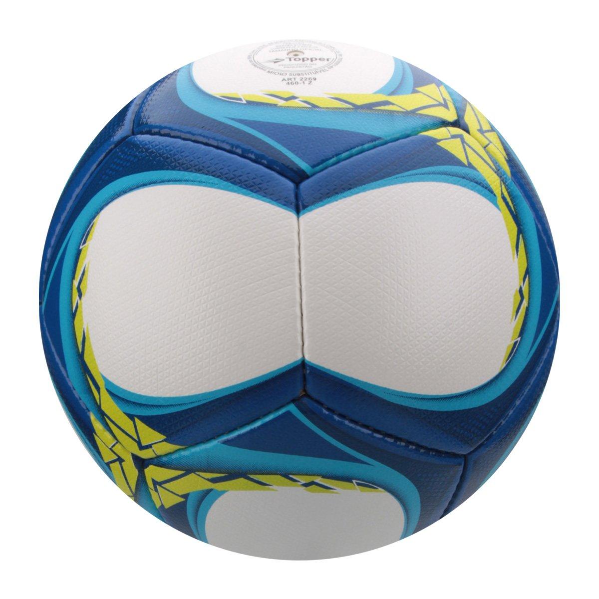 Bola Futebol Campo Topper Trivela V12 - Branco e Azul - Compre Agora ... d7b8411913216