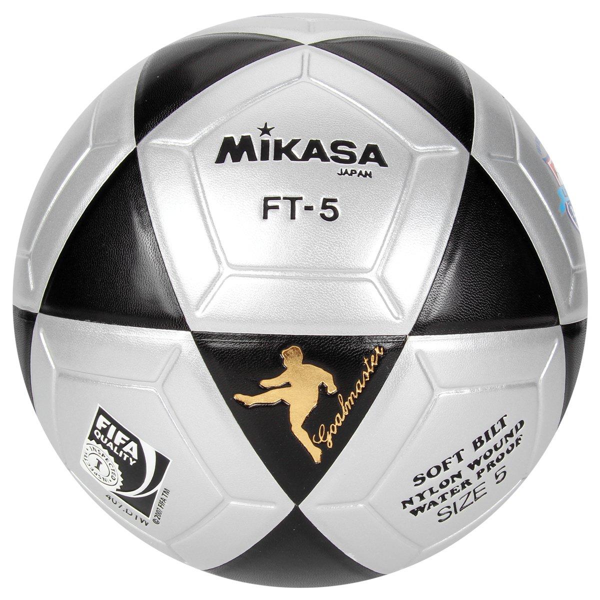 0dfe620106647 Bola Futebol Mikasa FT-5 Futvôlei - Prata e Preto - Compre Agora ...