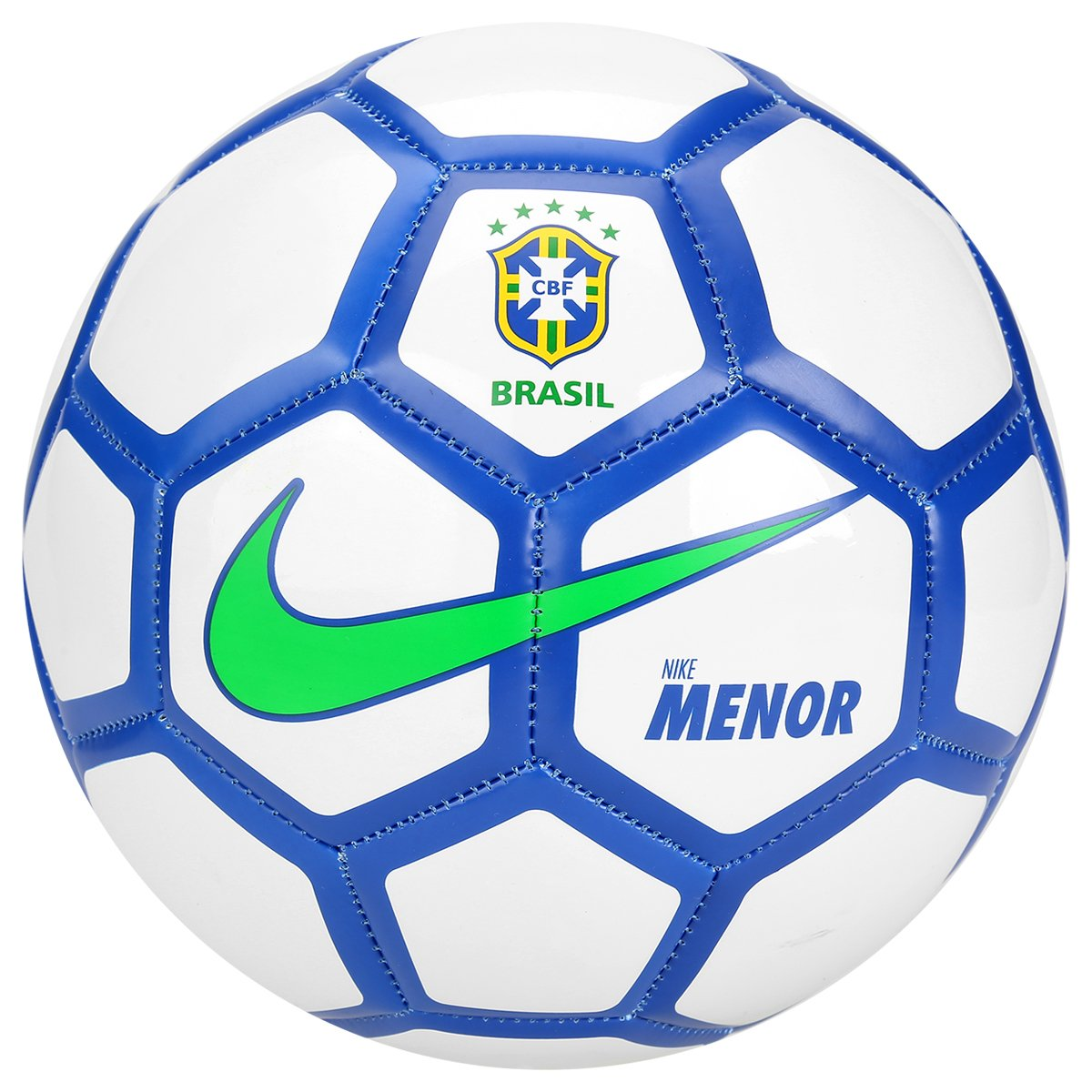 Bola futebol nike menor cbf futsal branco e azul for Bolas para piscina de bolas