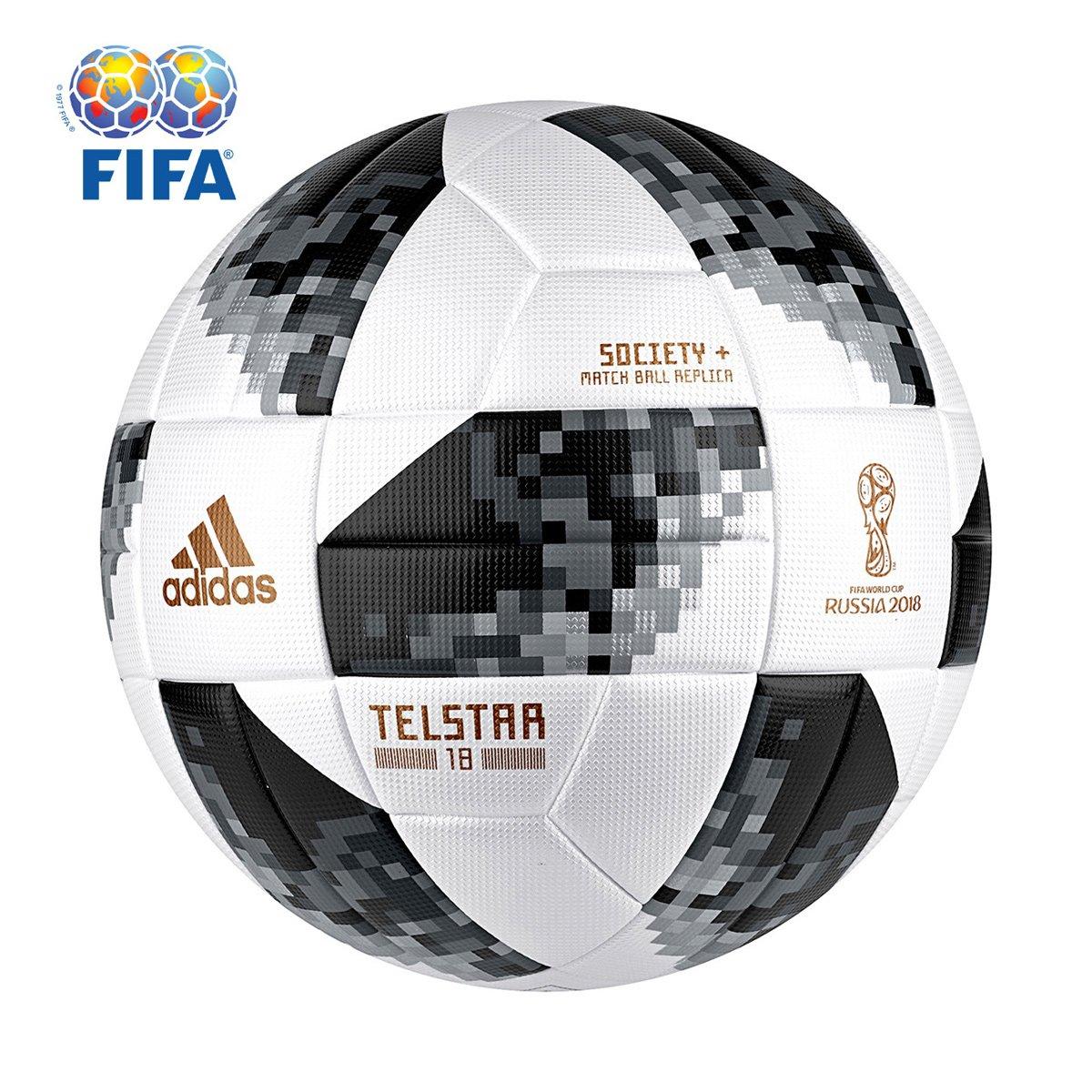 Bola Futebol Society Adidas Telstar 18 TOP Copa do Mundo FIFA ... 643003cc21d14