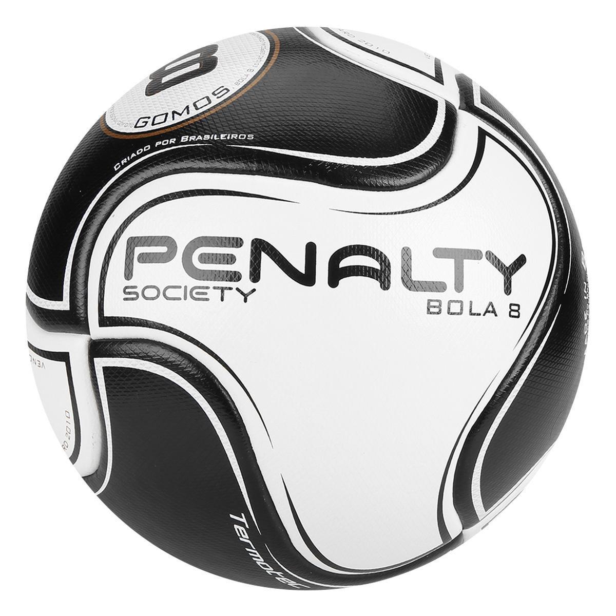 Bola Futebol Society Penalty 8 VIII - Branco e Preto - Compre Agora ... 36bc748d4167b