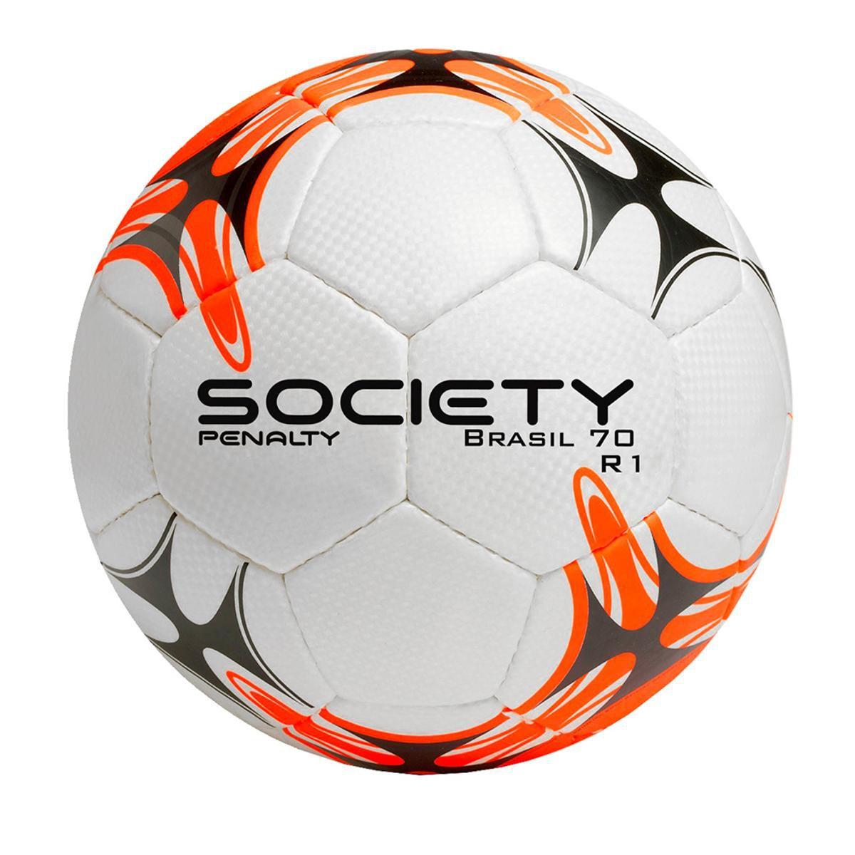 Bola Futebol Society Penalty Brasil 70 R1 - Branco e Laranja ... 9844a2e9418a1