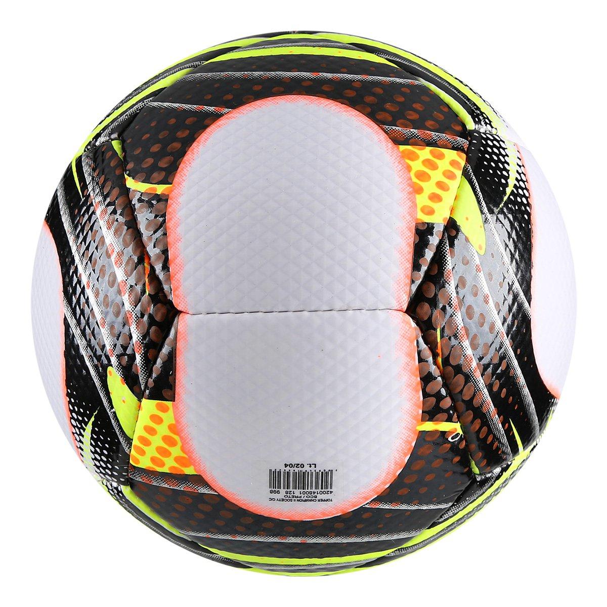 Bola Futebol Society Topper Champion II - Branco e Preto - Compre ... fda1ebbe2fd5f
