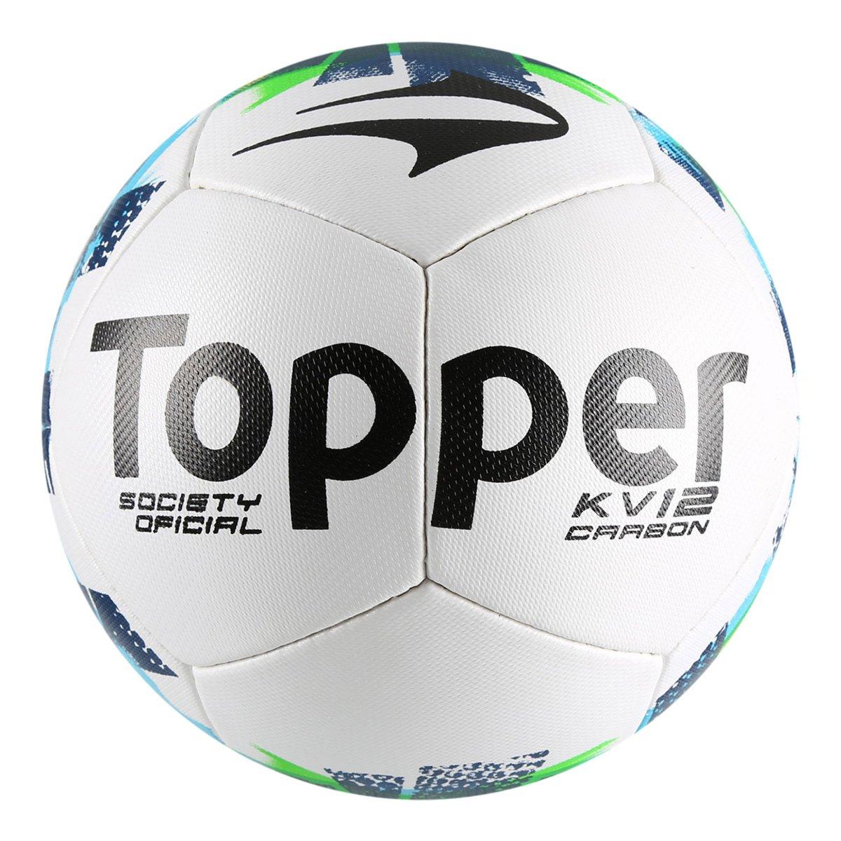 Bola Futebol Society Topper KV Carbon II - Compre Agora  c7819c8072903