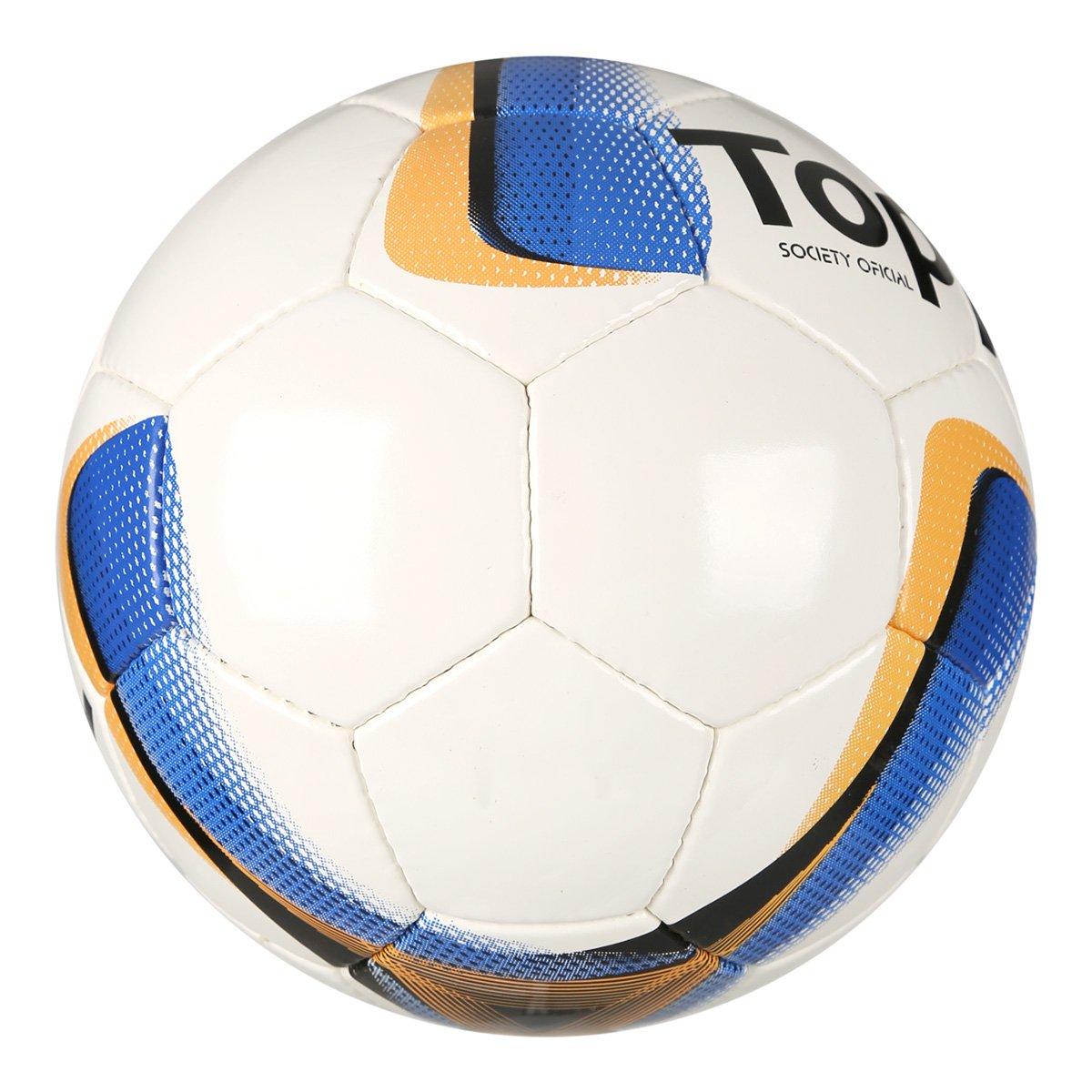 ... Bola Futebol Society Topper Strike VIII - Branco+Laranja. 2 POR R   99 c4cc089b3a75d