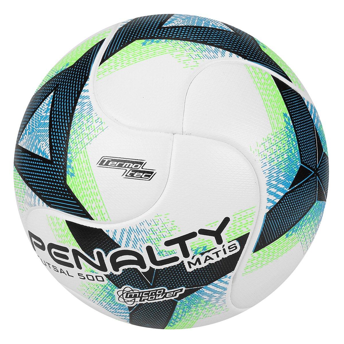 Bola Futsal Penalty Matis 500 Termotec VIII - Branco e Verde ... f053ef0ab70be