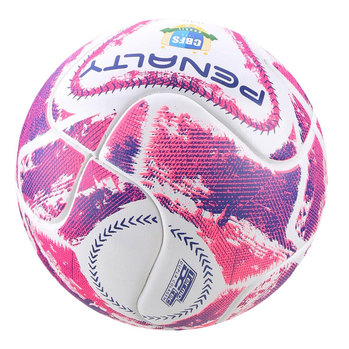 Bola Futsal Penalty Max 100 LX - Branco e Rosa - Compre Agora  4ecbfed7a3c8b