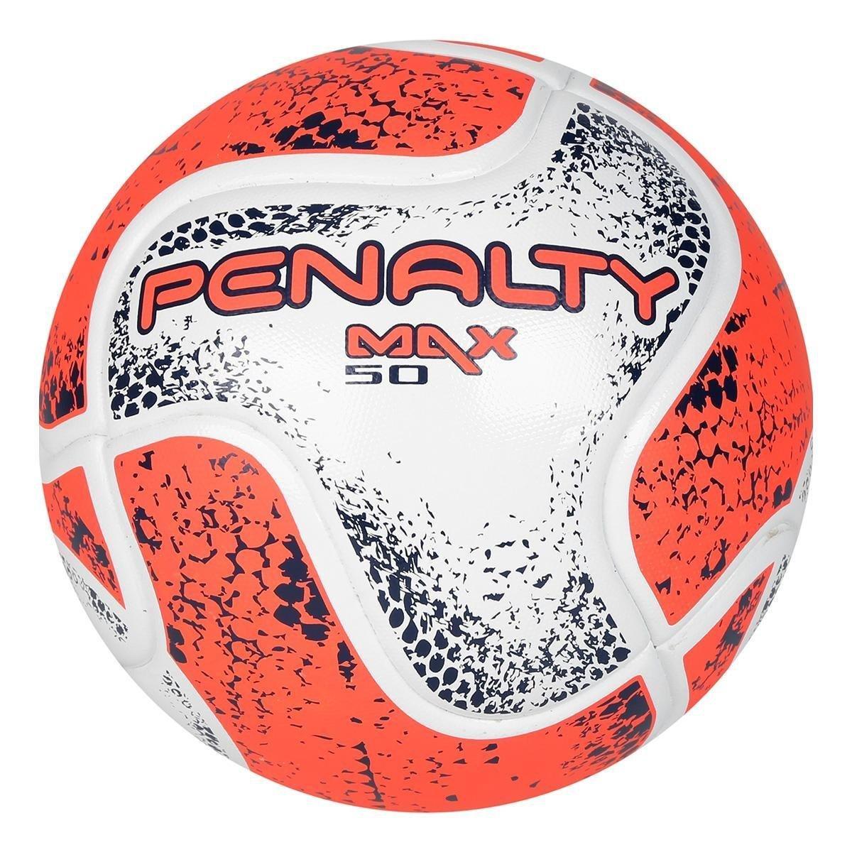 93f642dcd6 Bola Futsal Penalty Max 50 CBFS VIII - Branco e Laranja - Compre ...