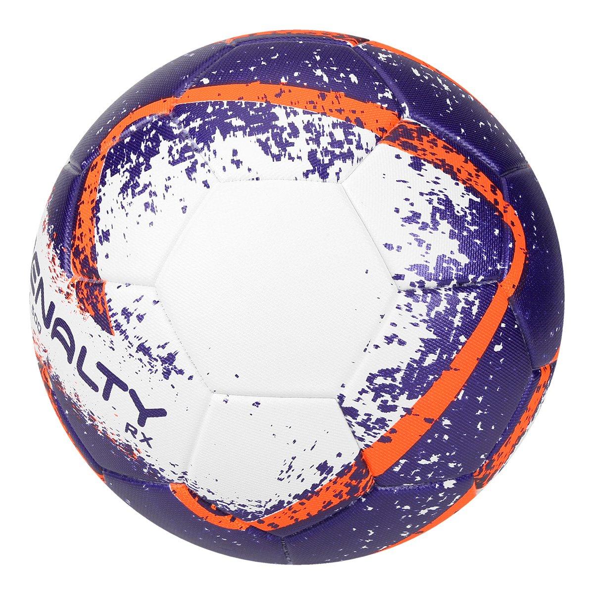 59464fc92b Bola Futsal Penalty RX 500 R2 Fusion VIII - Branco e Laranja ...