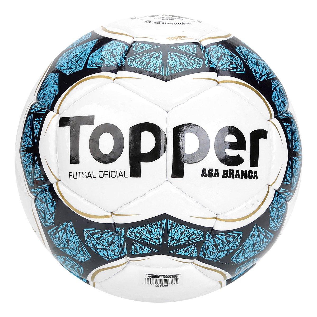 2e1351f78ee1d Bola Futsal Topper Asa Branca II - Branco e Azul - Compre Agora ...