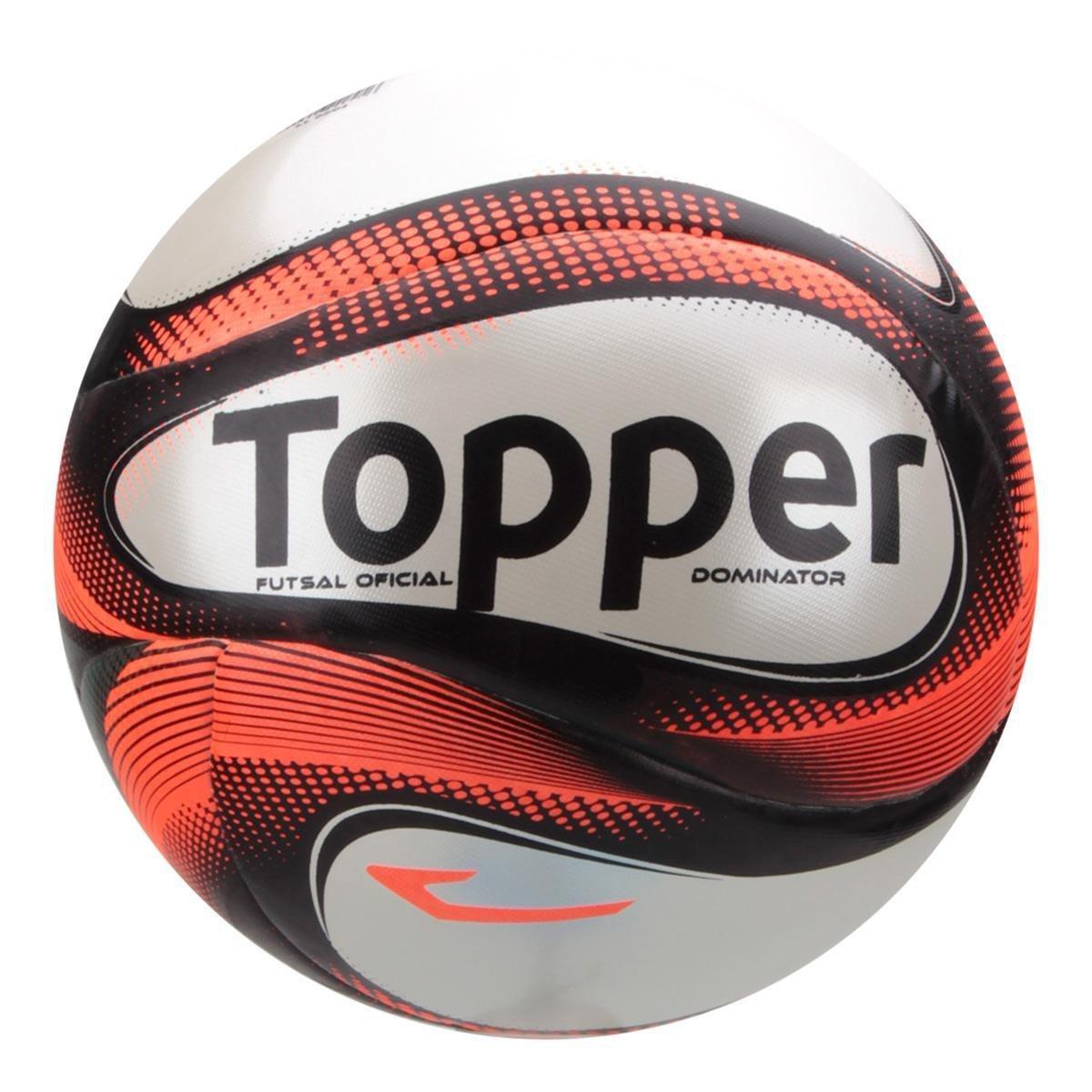 4581da8da5 Bola Futsal Topper Dominator Pro - Vermelho e Preto