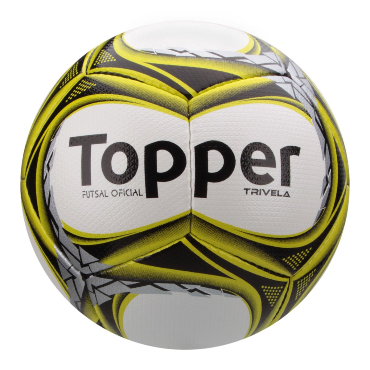 Bola Futsal Topper Trivela V12 - Branco e Amarelo - Compre Agora ... 84de5e38a8a73
