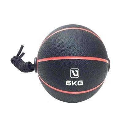Bola Liveup De Peso Medicine Ball Ls3006E/6 Com Corda 6Kg - Unissex