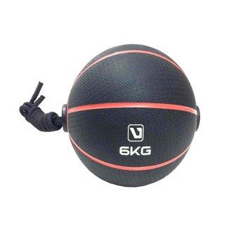 Bola Liveup De Peso Medicine Ball Ls3006E/6 Com Corda 6Kg