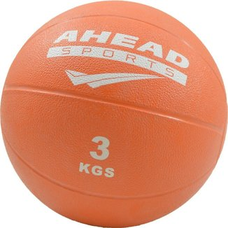 Bola Medicinal Medicine Ball 3kg Ahead Sports Laranja