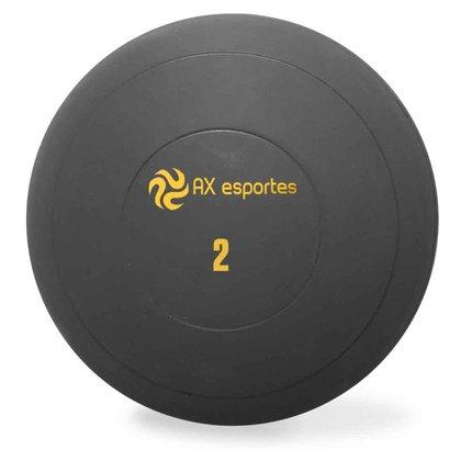 Bola Medicine Ball Kick Borracha 2 Kg AX Esportes