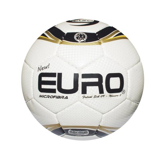 Bola New Euro Sports Futsal Sub 9 Iniciação - Branco