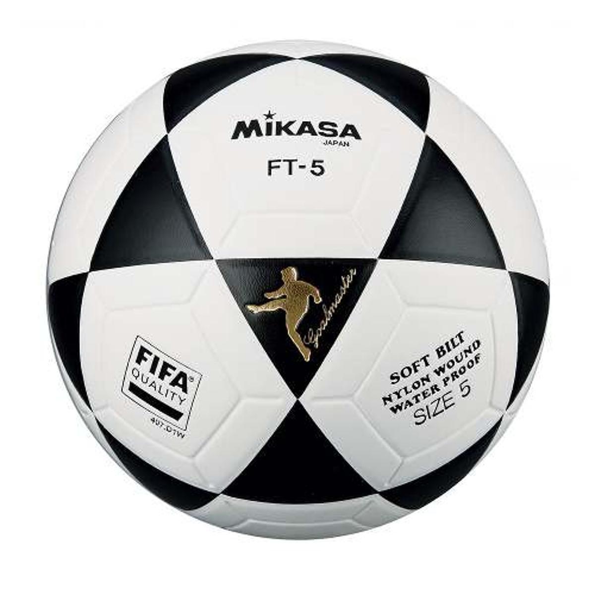 1ca52080f Bola Oficial de Futevôlei FT-5 Padrão FIFA Mikasa - Branco e Preto ...