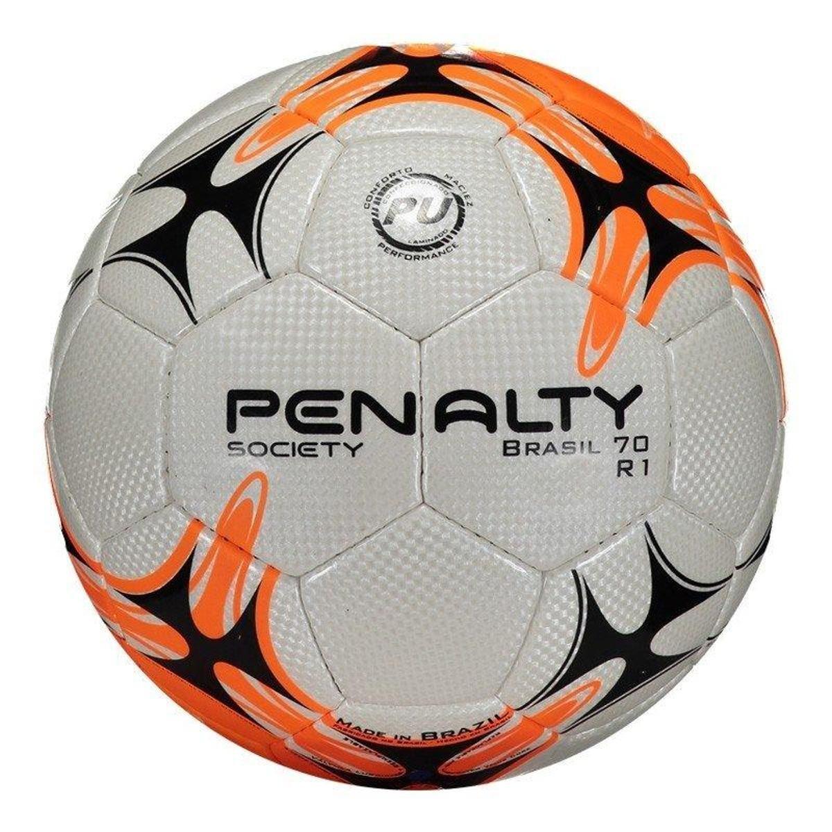 940fce3d3618a Bola Penalty Brasil 70 R1 VII Society - Branco e Laranja - Compre Agora