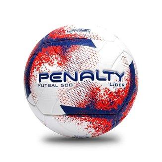 Bola Penalty Futsal Lider XXI UNICO BRANCO/VERMELHO